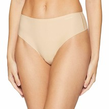 Calvin Klein Women's Invisibles High Waist Thong Panty QF4982-265 Bare Nude NWT