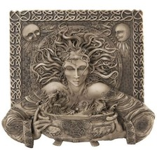 "Celtic Goddess Cerridwen Sorcery Decorative Wall Plaque Statue Figurine 10"" - $29.95"