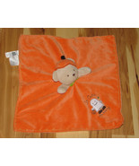 Carters Halloween Baby Security Blanket Rattle Bear Orange So Cute Scary - $24.74