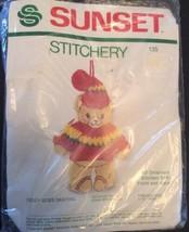 Teddy Goes Skating Vtg Sunset Stitchery Christmas Ornament Kit Diane Bra... - $16.98