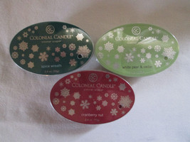 3 Colonial Candle ~~WINTER ASSORTMENT~~ Simmer Snaps/ Tarts 2.4oz Oval - $16.00