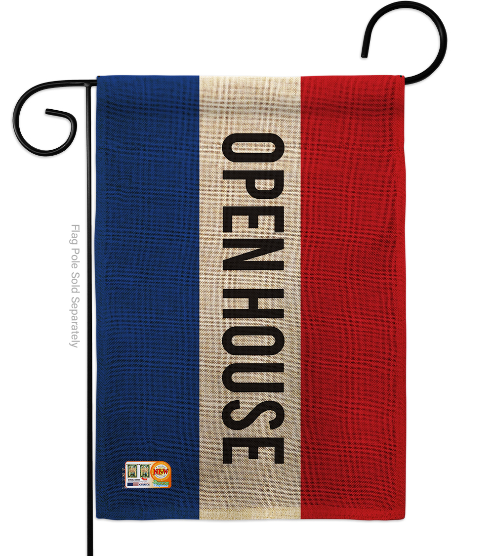 Primary image for Open House Burlap - Impressions Decorative Garden Flag G142783-DB