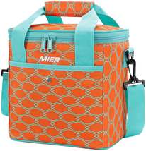 Mier 9 Can Insulated Lunch Bag For Women Leakproof Soft Cooler Tote, Orange - $22.76
