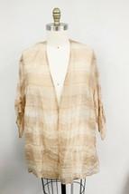 WOMENS GIORGIO ARMANI COLLEZIONI Pink Silk Beige Organza Over Jacket She... - $229.00