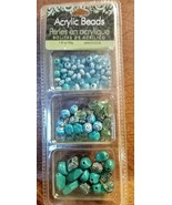 Beautiful!! Turquoise Acrylic Bead Set~ 1.8 oz./50 g.~New in Package - $8.42