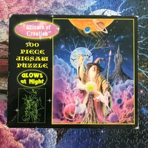 500 Piece Jigsaw Puzzle Wizard of Creation Unicorns Planets Glows in th... - $29.44