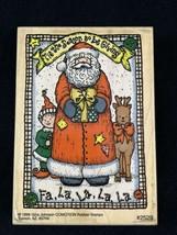 Vintage 1998 Gina Johnson Comotion Tis The Season Wood Mounted Rubber Stamp 2529 - $9.41
