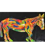 "T LIGHTHOUSE ""HORSE"" ORIGINAL ONE OF KIND PAINTING ON CANVAS HAND SIGNED - $896.36"
