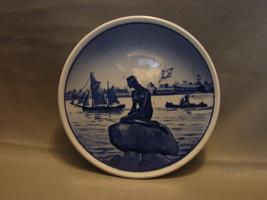 """Vintage ROYAL COPENHAGEN Mini Plate LANGELINE #2-2010 DENMARK 3-1/8"""" - $10.99"""