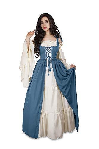 Mythic Renaissance Medieval Irish Costume Over Dress & Cream Chemise Set (S/M, F