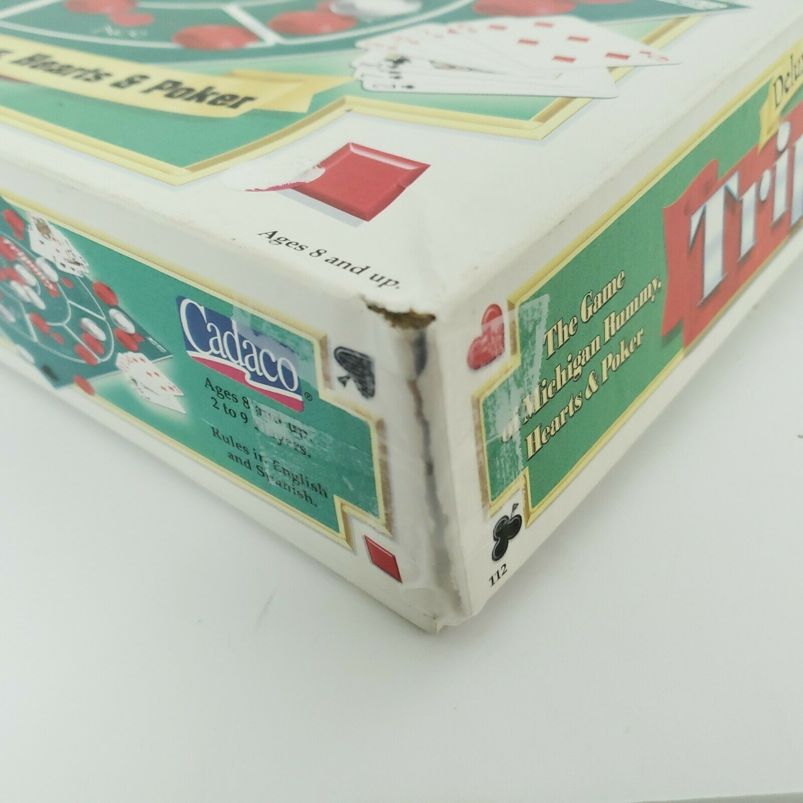 Tripoley Board Game Deluxe Mat Version Cadaco 2-9 Players Vintage 1999 Complete image 9