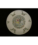 WINTER FUN collector plate ROYAL DOULTON Victorian Christmas ICE SKATING - $14.99