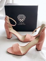 ✨New VINCE CAMUTO Corlina Suede Ankle Strap Sandals Pink Womens Size 11M... - $40.97