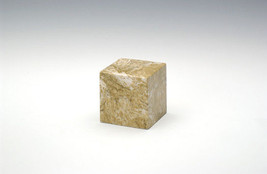 Small Cube Marble Neptune Keepsake Funeral Cremation Urn, 18 Cubic Inches - $94.99