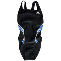 Adidas 3 Stripes Kids & Teen Girls Swimsuits (Black/Blue/Off White, Size... - $20.99