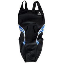 Adidas 3 Stripes Kids & Teen Girls Swimsuits (Black/Blue/Off White, Size... - $20.99
