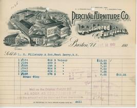 1901 Percival Furniture Co. Billhead Boston MA Upholstered Upholstery - $10.00