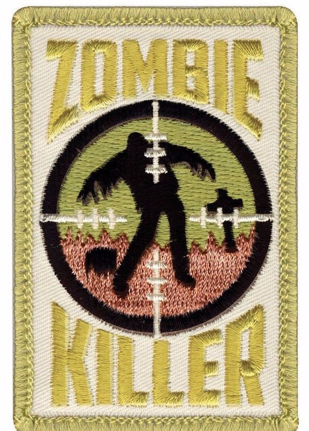 Primary image for SNIPER ZOMBIE KILLER EMBROIDERED HOOK AND LOOP  MILITARY PATCH