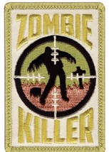 SNIPER ZOMBIE KILLER EMBROIDERED HOOK AND LOOP  MILITARY PATCH - $23.74