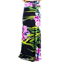 Womens Purple Floral High Waist Slim Fit Long Maxi Skirt S M image 4