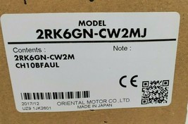 Nib Oriental Motor 2RK6GN-CW2MJ Electromagnetic Brake Motor CH10BFAUL - $389.95