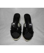 Wonderful Womens Size 7 JESSICA SIMPSON Wedge Heels Shiny Black - $70.44