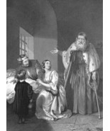 DOGE OF VENICE Foscari Exiling His Son Prison - 1840s Antique Print Engr... - $16.20