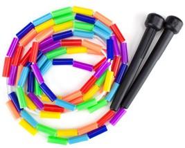 Rainbow 7 Feet Jump Rope Plastic Beaded Segmentation Colorful Kid Child ... - ₨610.45 INR