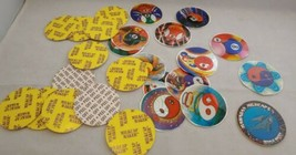 Milk Cap  Maker Supplies 13 sticker fronts and 12 backs plus 1 Hawaiian ... - $4.95