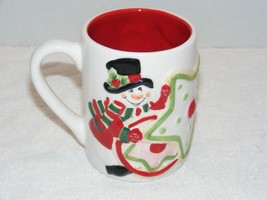FRITZ & FLOYD SANTA CLAUSE & SNOWMAN HOLIDAY SEASON CERAMIC COFFEE MUG GUC - $232,49 MXN