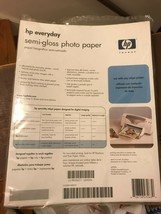 HP everyday semi gloss photo paper Q2509A- 46 sheets in the packet - $10.00