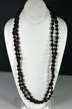 "62"" Vintage Oxblood Beads Hand Made Indian Chain Necklace Folk Art Tribal  - $18.99"