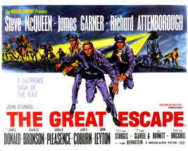 Steve McQueen and James Garner and Richard Attenborough in The Great Escape Worl - $69.99