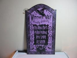 Halloween wall/door decor plaque, sign. Witch menu. Deadly Desserts - $16.99