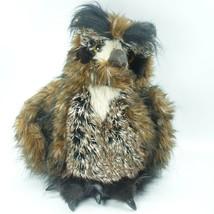 Folkmanis Great Horned Owl Puppet Animal Bird Moving Head Leather Beak &... - $39.95