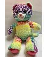 "BUILD A BEAR Lisa Frank Leopard Cat Cheetah Rainbow Plush 16"" Stuffed An... - $21.94"