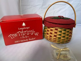 2003 Longaberger Melody Tree Trimming Collection Basket Tie-on Liner PP ... - $44.87