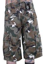 LRG Men's Khaki Wolf Camouflage Unnatural Palette Cargo Walk Shorts 28 image 3