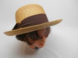 21b8bb47acce0 Old Vtg ANN TAYLOR DESIGNER WOMEN  39 S 100% STRAW HAT Sun Beach