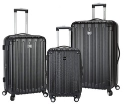 Travelers Club 3 Piece Luggage Set with TWO-IN-ONE Cup and Phone Conveni... - $133.14