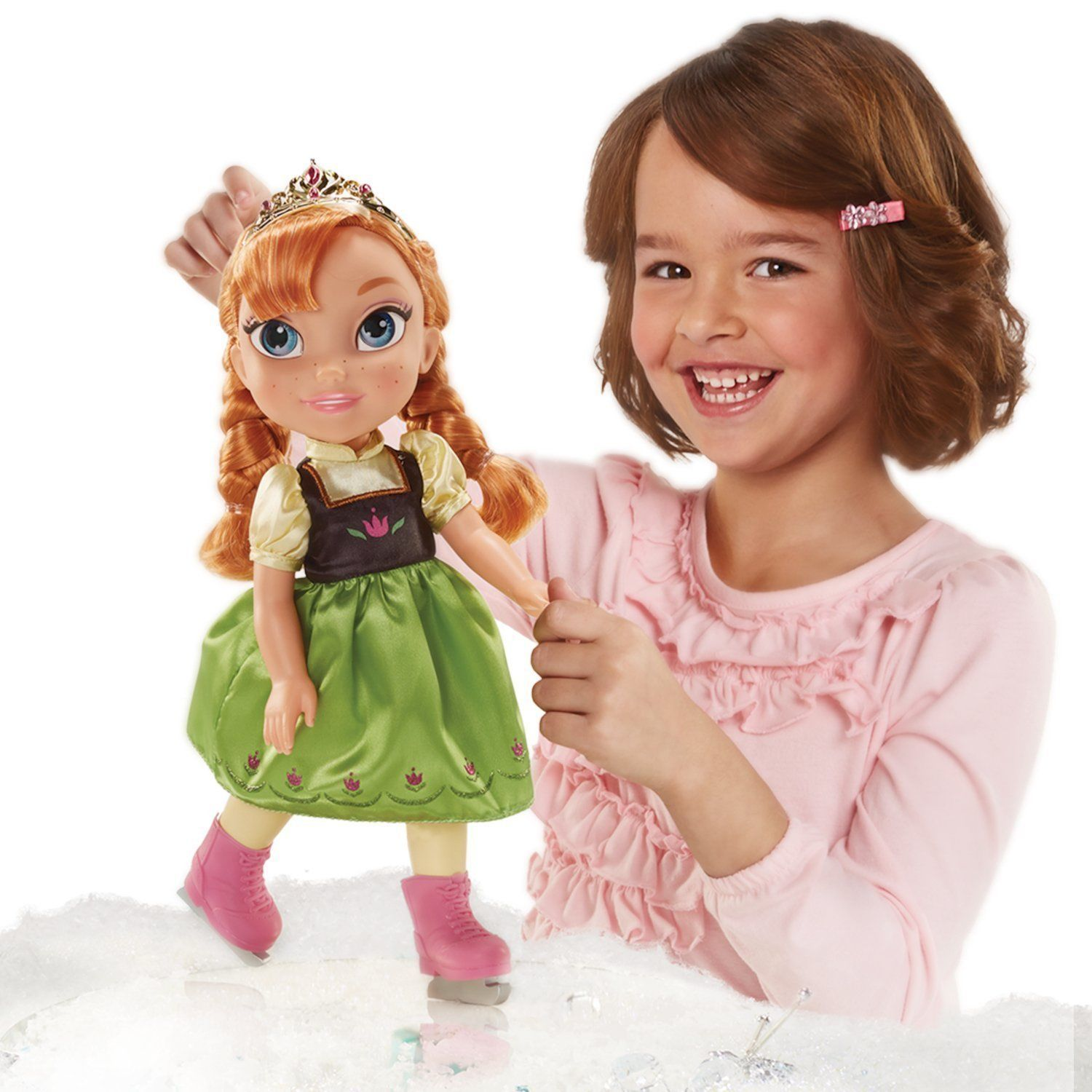 Image 3 of Ice Skating Princess Anna Frozen Toddler Doll Disney, 3+ Years