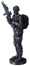 YTC 14 Inch Black Navy Seals Figurine on Guard with Rifle and Full Gear - $76.22