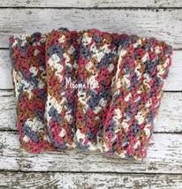 Handmade Kitchen Dish Cloths Rose Beige Gray Grey Crochet Eco Friendly S... - $22.50