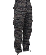 Tiger Stripe Camouflage Military BDU Cargo Bottoms Fatigue Trouser Camo ... - $27.99+