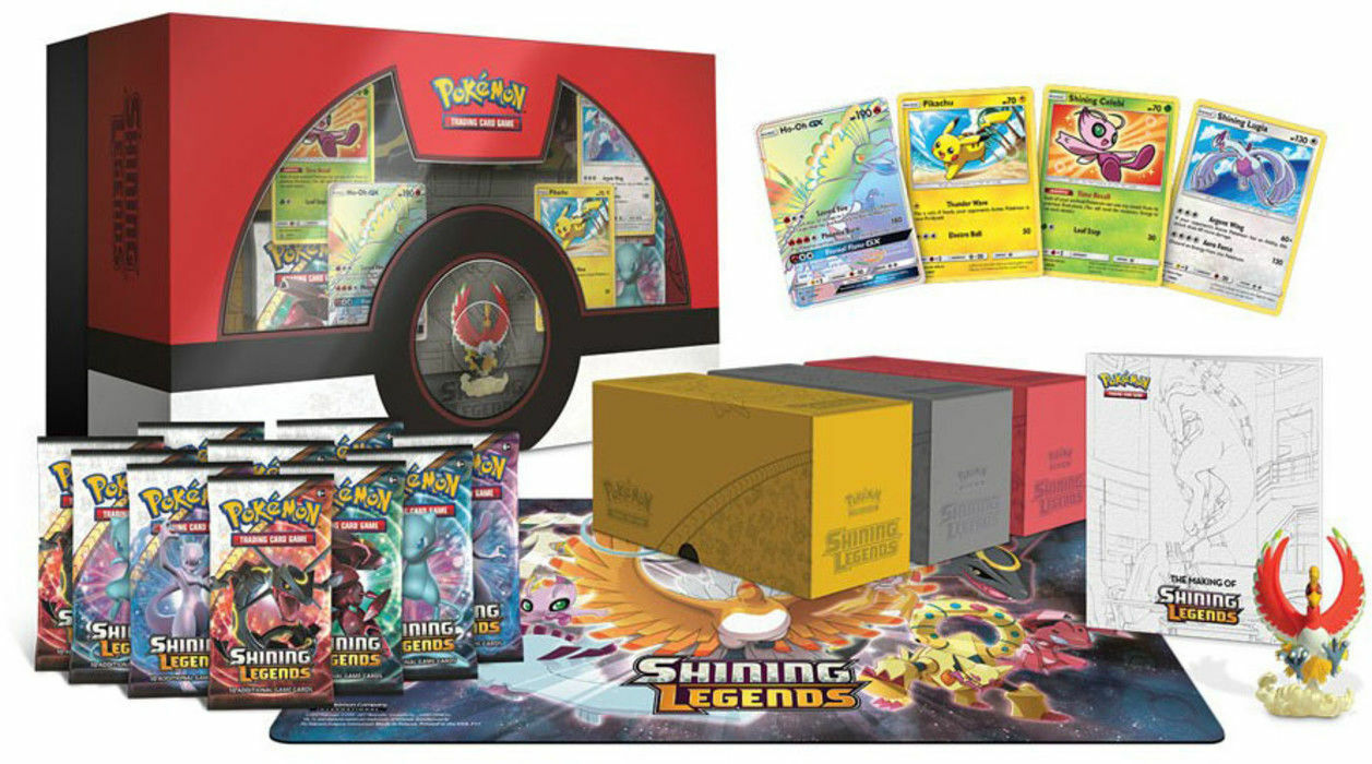 Pokemon Shining Legends Super Premium Ho-Oh Collection and Elite Trainer Box