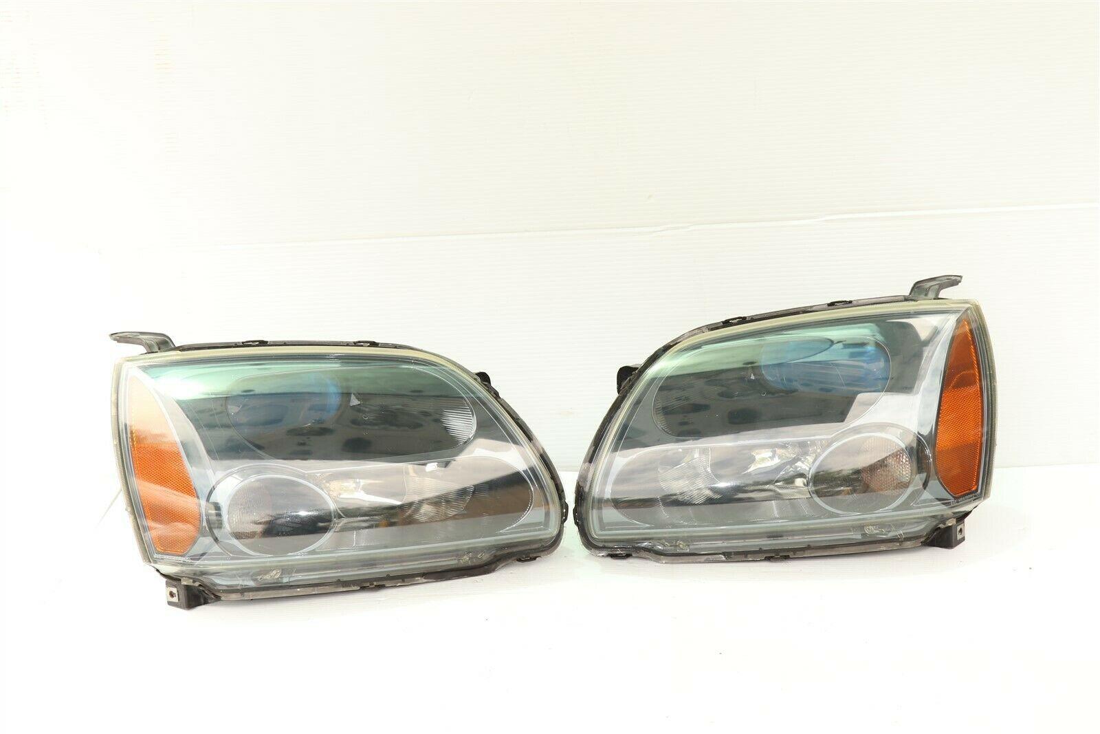 04-09 Mitsubish Galant Ralliart Projector Headlight Lamps Set L&R