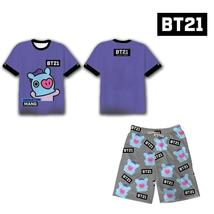 2Pcs Hot Kpop Bangtan Boys Bts Bt21 Koya Tata Rj Clothes Set T-Shirt+Sho... - $42.49