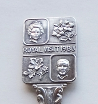 Collector Souvenir Spoon Royal Visit 1983 Queen Elizabeth Duke of Edinburgh - $9.99