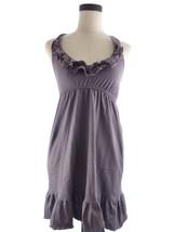 Womens S Blu Blue Heaven Purple Ruffle Halter D... - $18.00