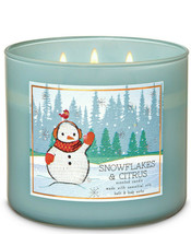 Bath & Body Works Snowflakes & Citrus Three Wick 14.5 Ounces Scented Candle - $22.49